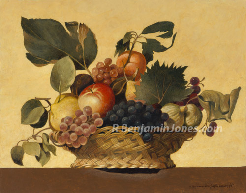 Still Life with a Basket of Fruit, after Caravaggio